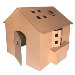 Kids Pretend Play Cardboard Cubby