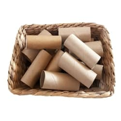 Kids Pretend Play Paper-towel and toilet-paper rolls