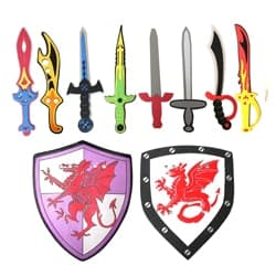 Kids Pretend Play Swords and shields