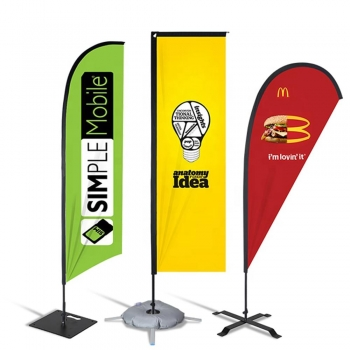 Advertising Beach Flags Banners