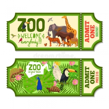 Zoo Ticket Printing