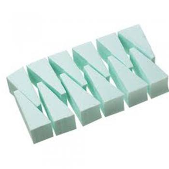 Wedge-shaped makeup sponges