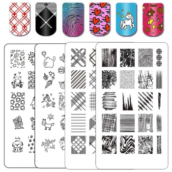 Floral Stamped Nail Arts