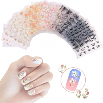 Two-tone nail art designs