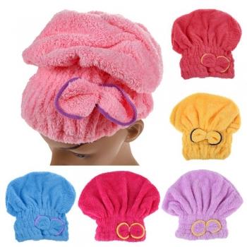 Turban Wrapped Towel Cap