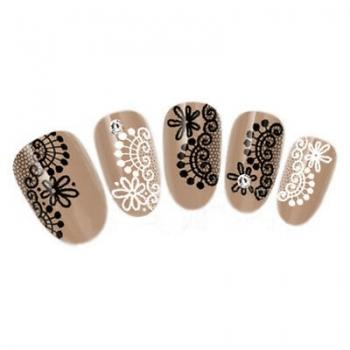 Lace nail art stickers