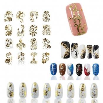 Metal nail art stickers