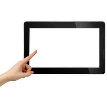 Tablet Holding touchscreen