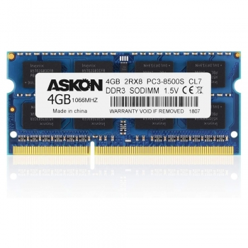DDR3 1066 or  PC3-8500