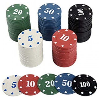 Casino Chips with Numbers