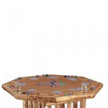 ctagonal Card Game Table