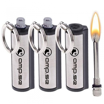 Kayak Matches or lighter or fire starter in waterproof containers