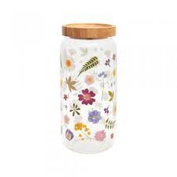 Pressed Flower Glass Vases