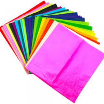 Kids drawing Colored Tissue Paper