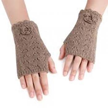 Kids knitting Beaded Wrist Warmers