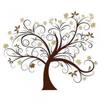 Kid's wood Family Tree Photo Clips