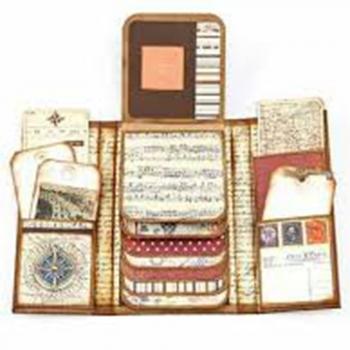 Photo albums, mini-scrapbooks, or journals