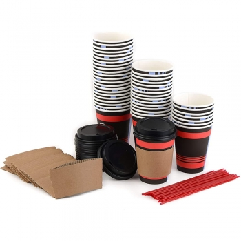 Cup or  Lid or  Sleeve Sets Paper Hot Cups