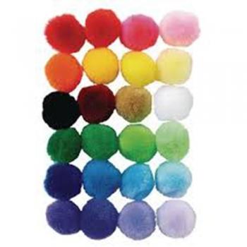 Colored Pom-Poms