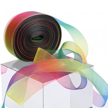 Sheer   shimmery ribbons