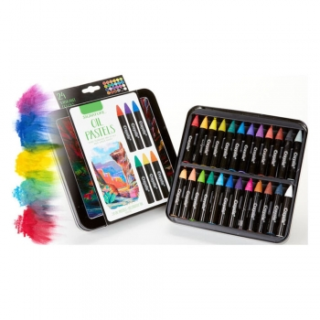 Water soluble oil pastels water colors