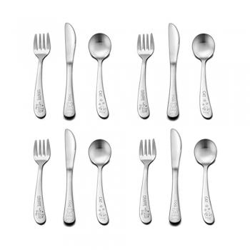 Baby stainless kid-friendly silverware