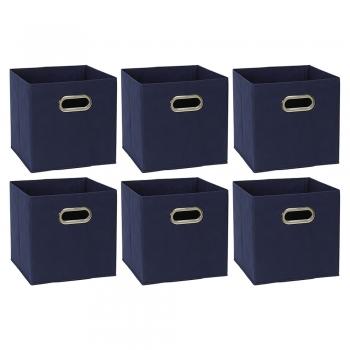 Foldable Storage Cube Basket Fabric Bin (Set of 6)