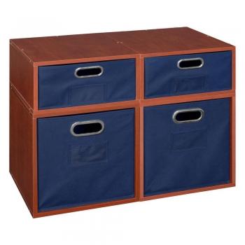 Half-Size Foldable Fabric Storage Bin (Set of 4)