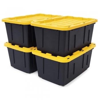 Snap Yellow Cube Bin