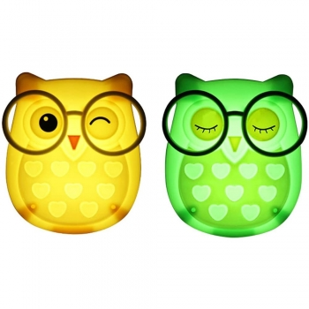 Voice-Activated Owl kids decor Night Lamp for Kids