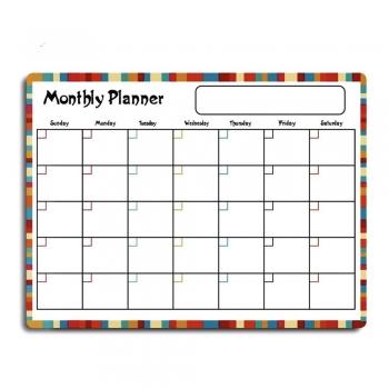 Dry Erase Calendar Set - Floral