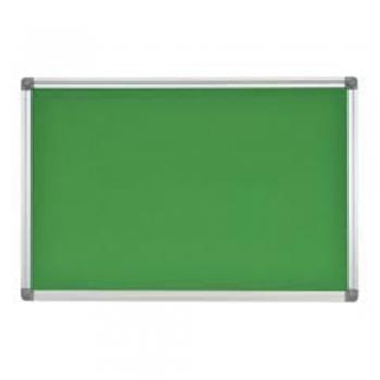 Green fabric pin boards