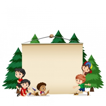 Kids pine trees