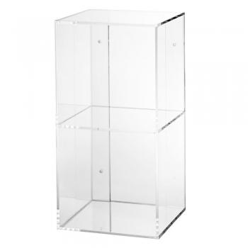 Now You See It 2-Bin Acrylic Shelf Bookcase