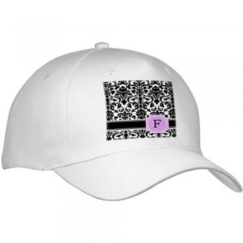 Pink   grey damask letters