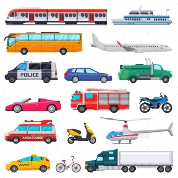 Transport vehicles wall letters