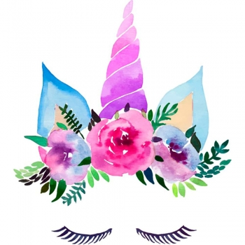 Water color flower fairy letters
