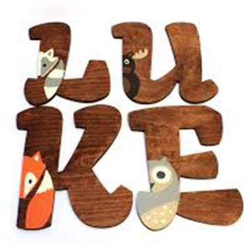 Water color woodland animals letters