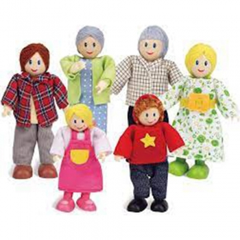 Wooden Dollhouse Dolls