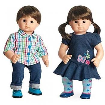 American twin dolls