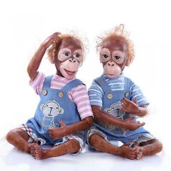 Monkeys twin dolls