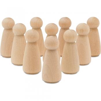 Hard wood dolls