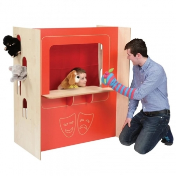 Backdrops and Puppets play boxes