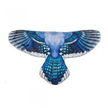 Blue jay kids play fairy wings