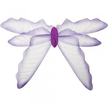 Crystal white kids play fairy wings