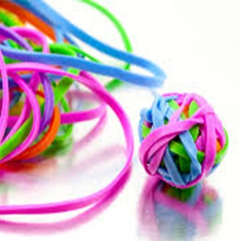 Kids play Rubber bands