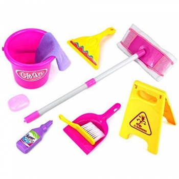 Kids Pretend Play Kitchen cleaning tools