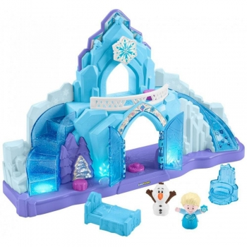 Kids play small world Ice Castle