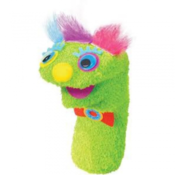 puppet with fuzzy socks