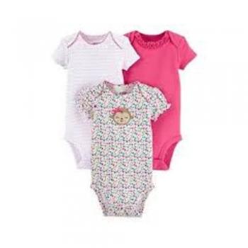 Baby Girls& Bodysuit Set 3pk